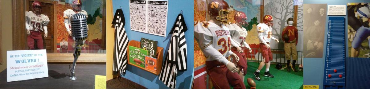 Football exhibit montage