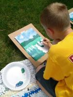Kid at Granary Art Camp
